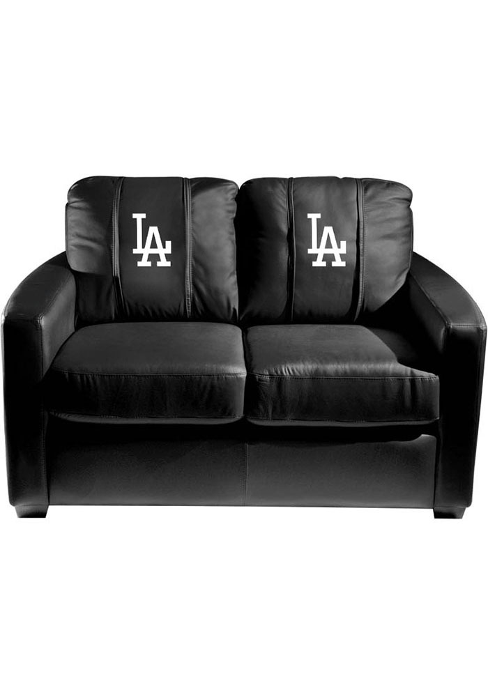 Los Angeles Dodgers Faux Leather Love Seat - Image 1