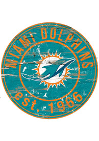 Miami Dolphins Established Date Circle 24 Inch Sign