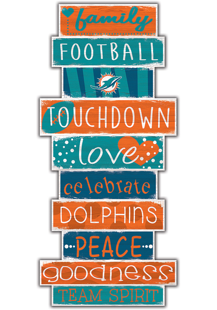 Miami Dolphins Celebrations Stack 24 Inch Sign - Image 1