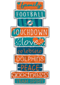 Miami Dolphins Celebrations Stack 24 Inch Sign