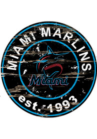 Miami Marlins Established Date Circle 24 Inch Sign