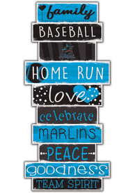 Miami Marlins Celebrations Stack 24 Inch Sign