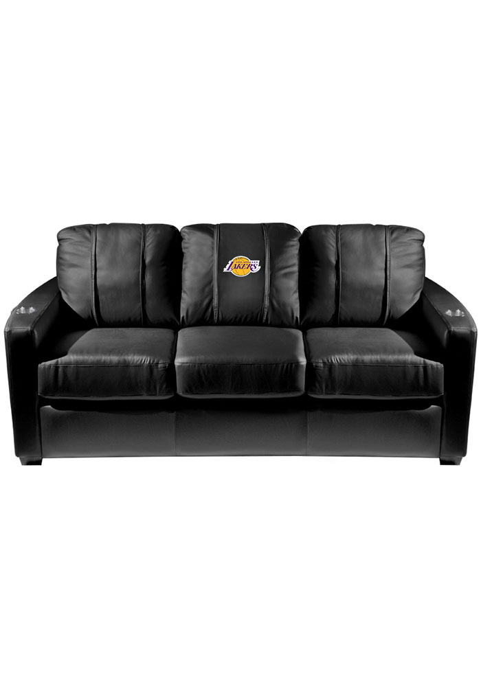 Los Angeles Lakers Faux Leather Sofa - 3262166