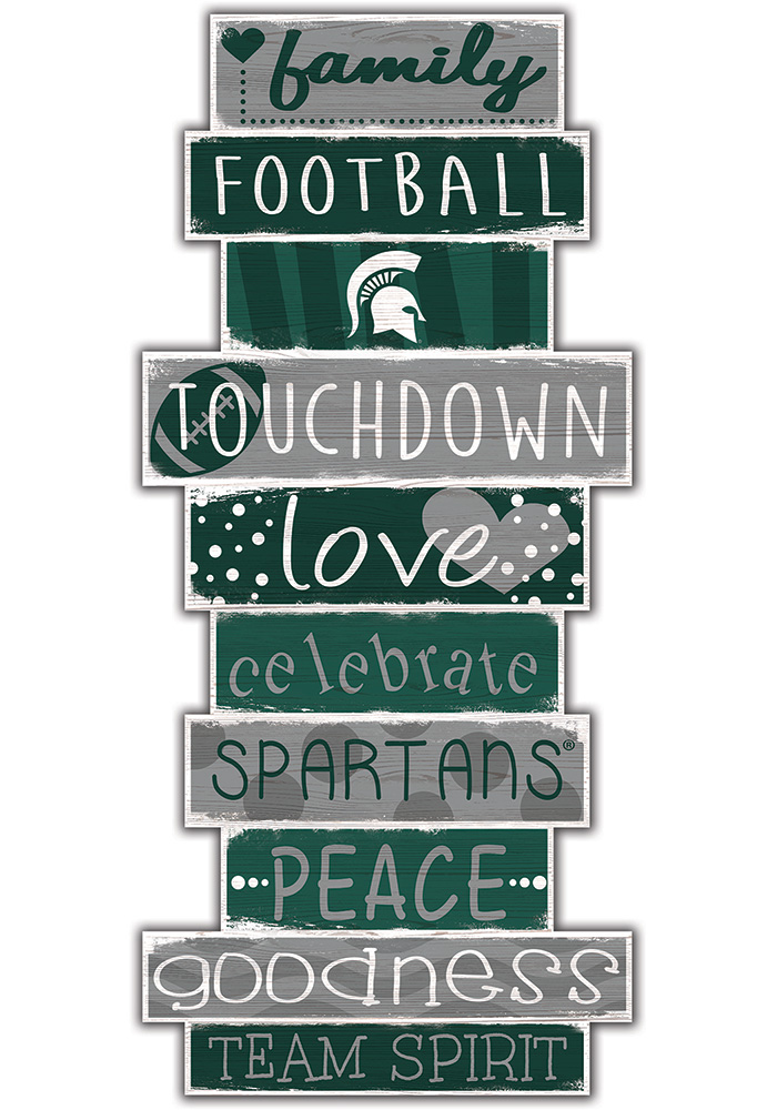 Michigan State Spartans Celebrations Stack 24 Inch Sign - Image 1