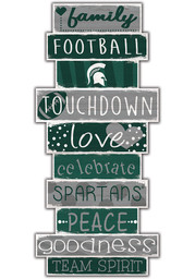 Michigan State Spartans Celebrations Stack 24 Inch Sign