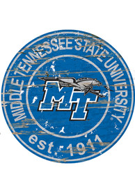 Middle Tennessee Blue Raiders Established Date Circle 24 Inch Sign