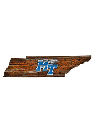 Middle Tennessee Blue Raiders Distressed State 24 Inch Sign