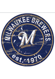 Milwaukee Brewers Established Date Circle 24 Inch Sign