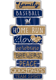 Milwaukee Brewers Celebrations Stack 24 Inch Sign