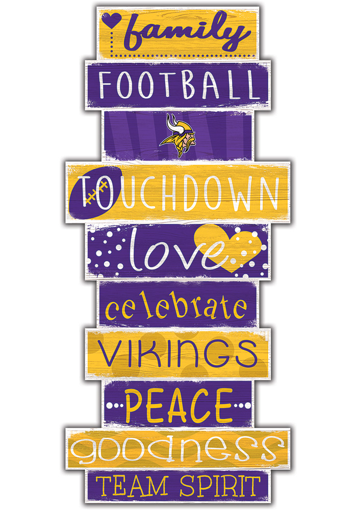 Minnesota Vikings Celebrations Stack 24 Inch Sign - Image 1