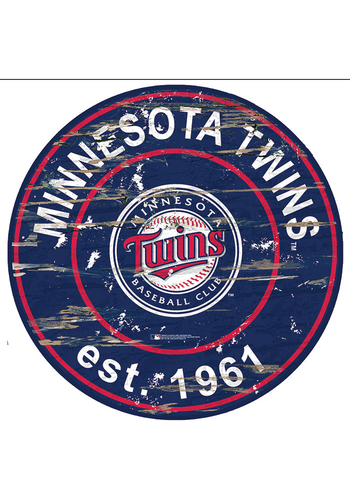 Minnesota Twins Established Date Circle 24 Inch Sign - Image 1