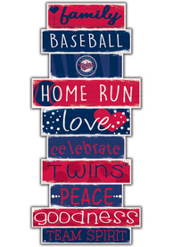 Minnesota Twins Celebrations Stack 24 Inch Sign