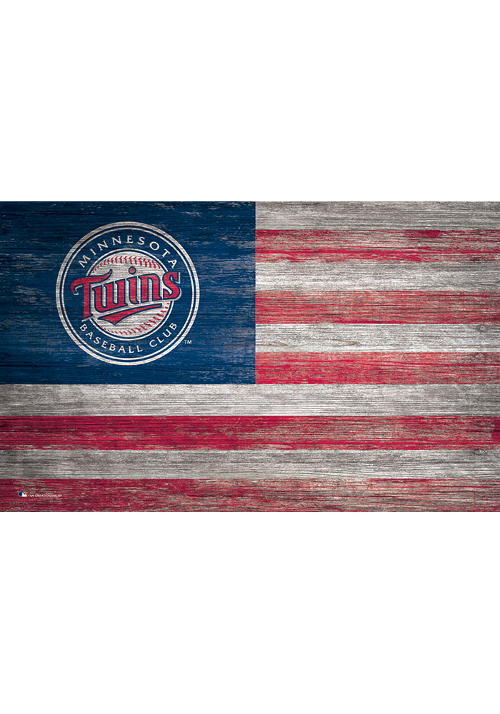 Minnesota Twins Distressed Flag 11x19 Sign - Image 1