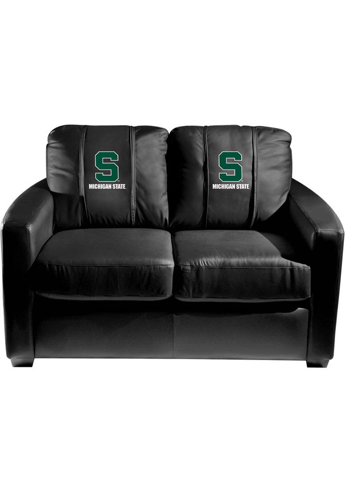 Michigan State Spartans Faux Leather Love Seat - Image 1