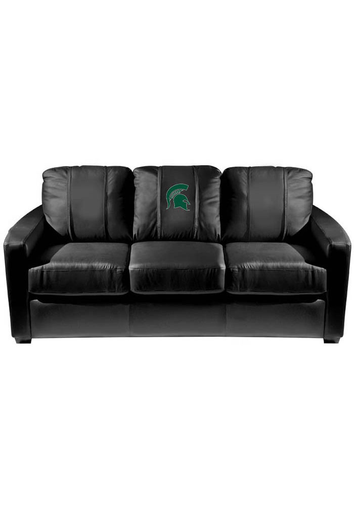 Michigan State Spartans Faux Leather Sofa - Image 1