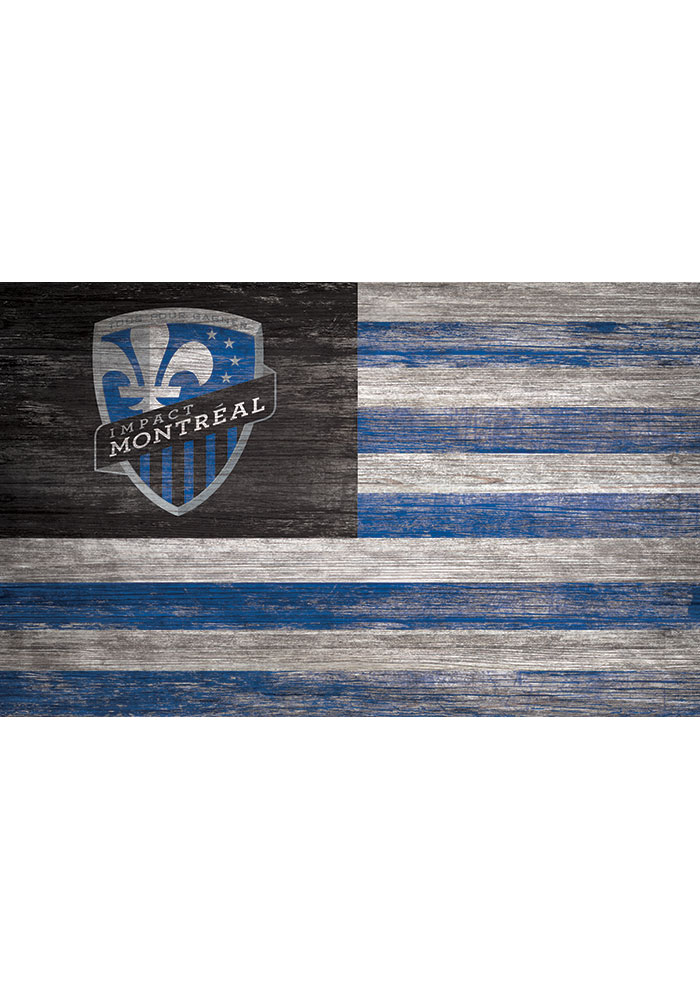 Montreal Impact Distressed Flag 11x19 Sign