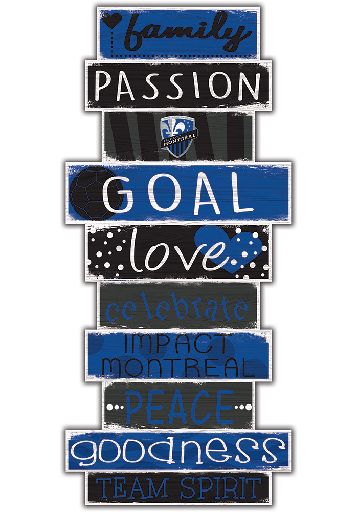 Montreal Impact Celebrations Stack 24 Inch Sign - Image 1