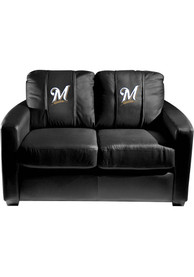 Milwaukee Brewers Faux Leather Love Seat