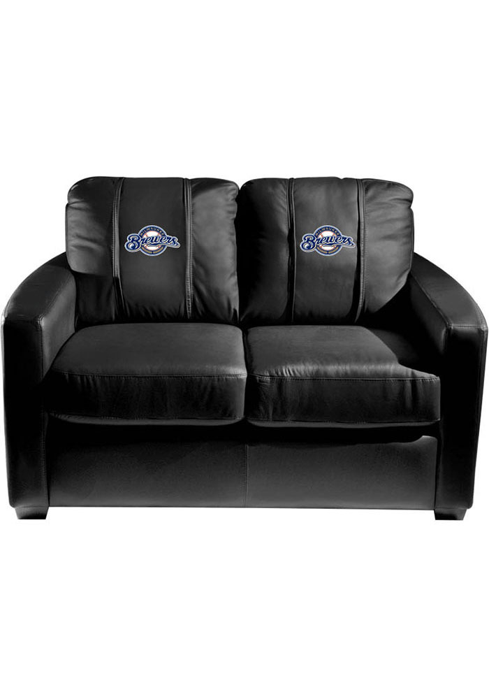 Milwaukee Brewers Faux Leather Love Seat - Image 1