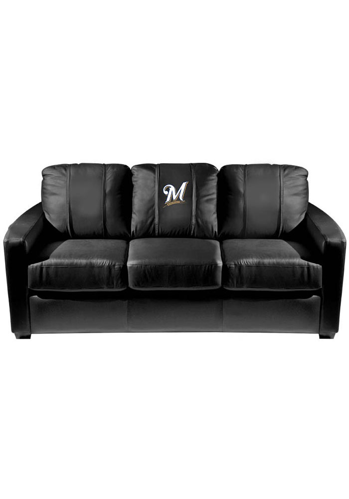 Milwaukee Brewers Faux Leather Sofa - Image 1