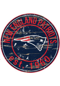 New England Patriots Established Date Circle 24 Inch Sign