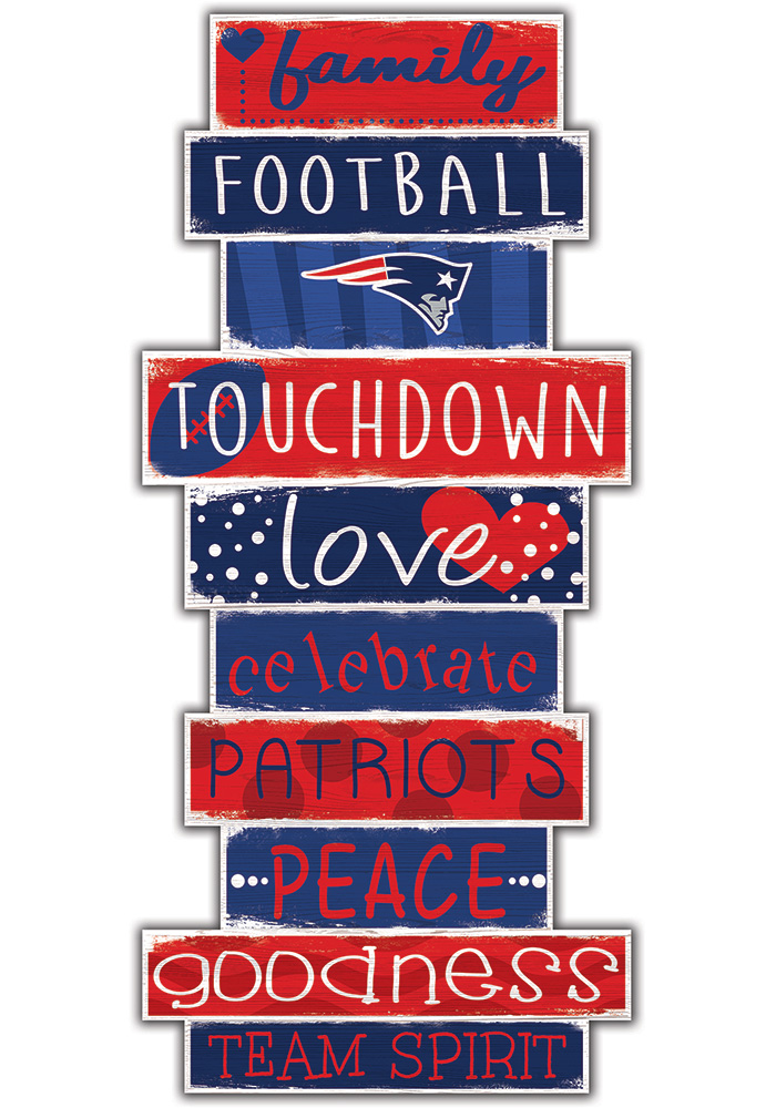 New England Patriots Celebrations Stack 24 Inch Sign - Image 1