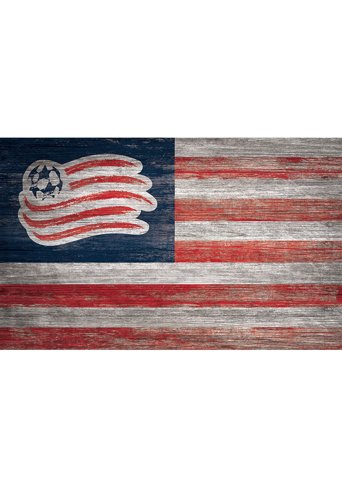 New England Revolution Distressed Flag 11x19 Sign