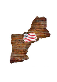 New England Revolution Distressed State 24 Inch Sign