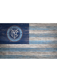 New York City FC Distressed Flag 11x19 Sign