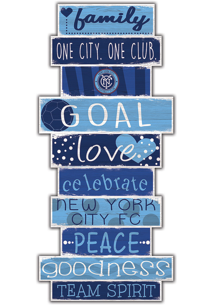 New York City FC Celebrations Stack 24 Inch Sign - Image 1