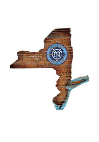 New York City FC Distressed State 24 Inch Sign