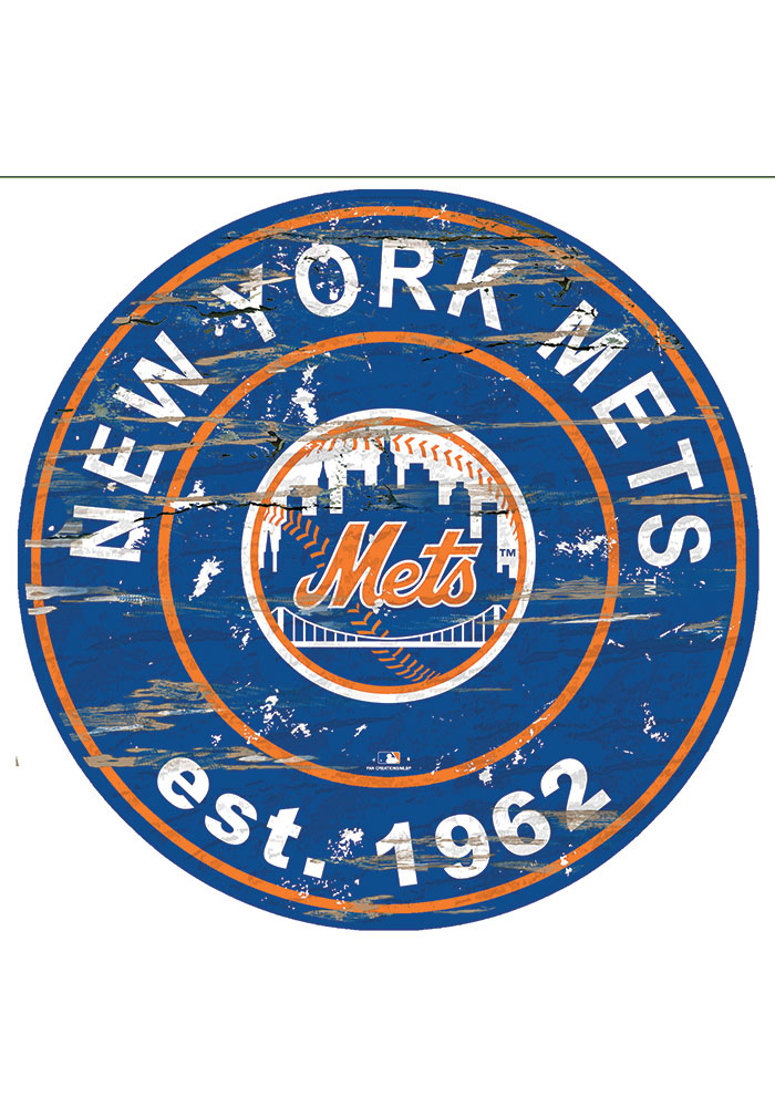 New York Mets Established Date Circle 24 Inch Sign - Image 1