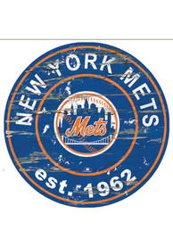 New York Mets Established Date Circle 24 Inch Sign