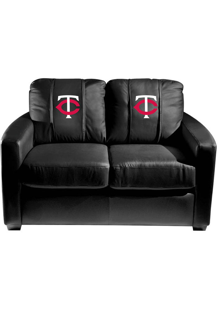 Minnesota Twins Faux Leather Love Seat - Image 1