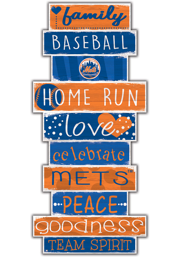 New York Mets Celebrations Stack 24 Inch Sign - Image 1