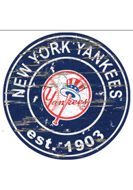 New York Yankees Established Date Circle 24 Inch Sign