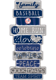New York Yankees Celebrations Stack 24 Inch Sign