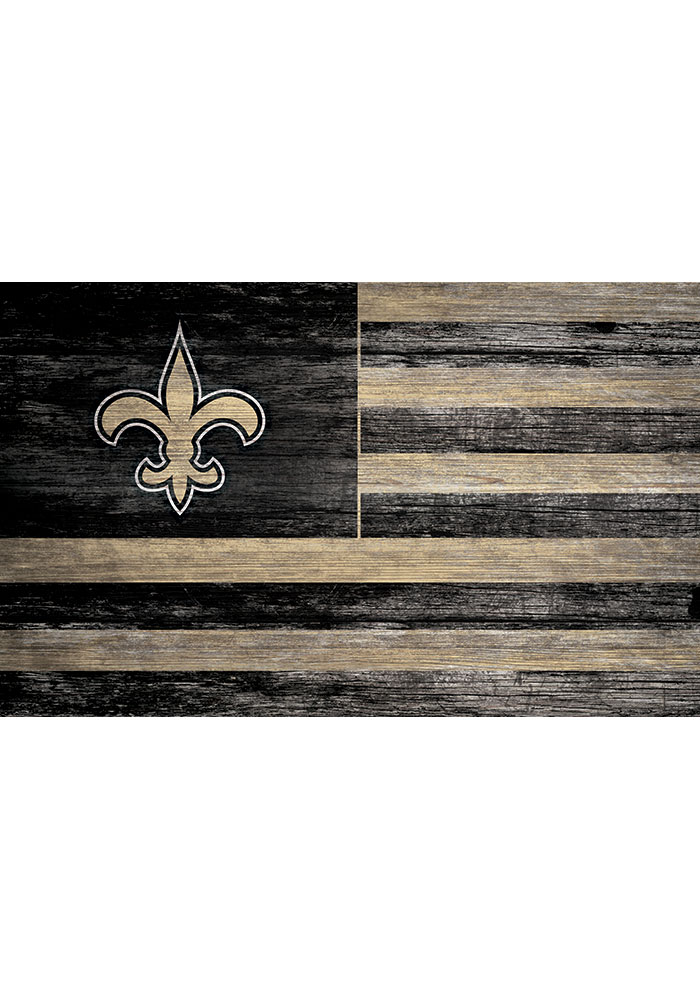 New Orleans Saints Distressed Flag 11x19 Sign - Image 1