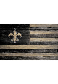 New Orleans Saints Distressed Flag 11x19 Sign