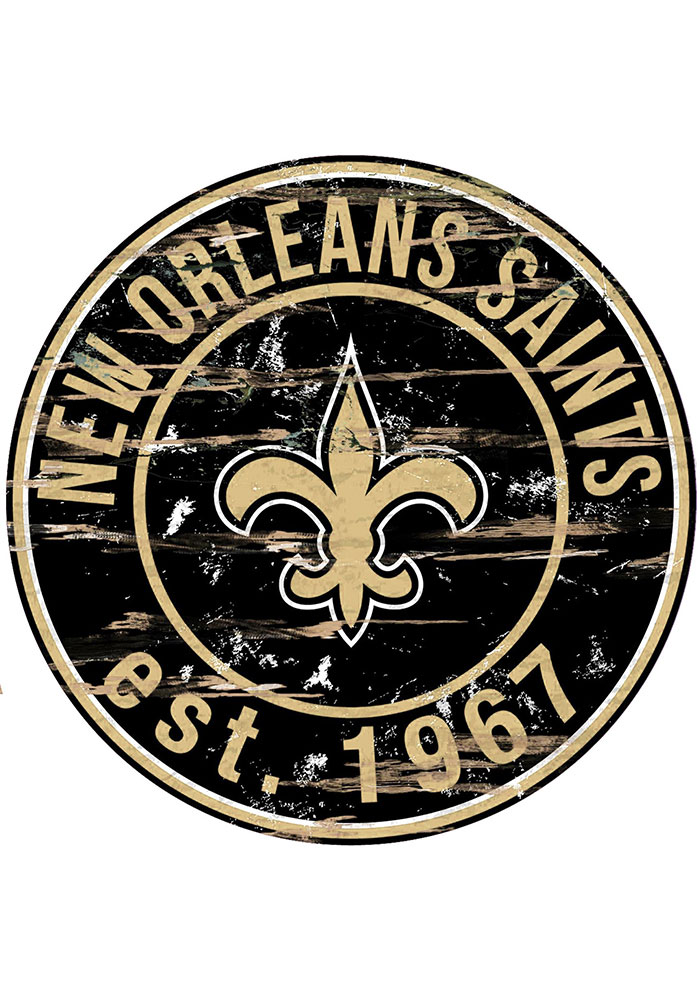 New Orleans Saints Established Date Circle 24 Inch Sign - Image 1