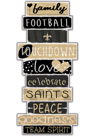 New Orleans Saints Celebrations Stack 24 Inch Sign