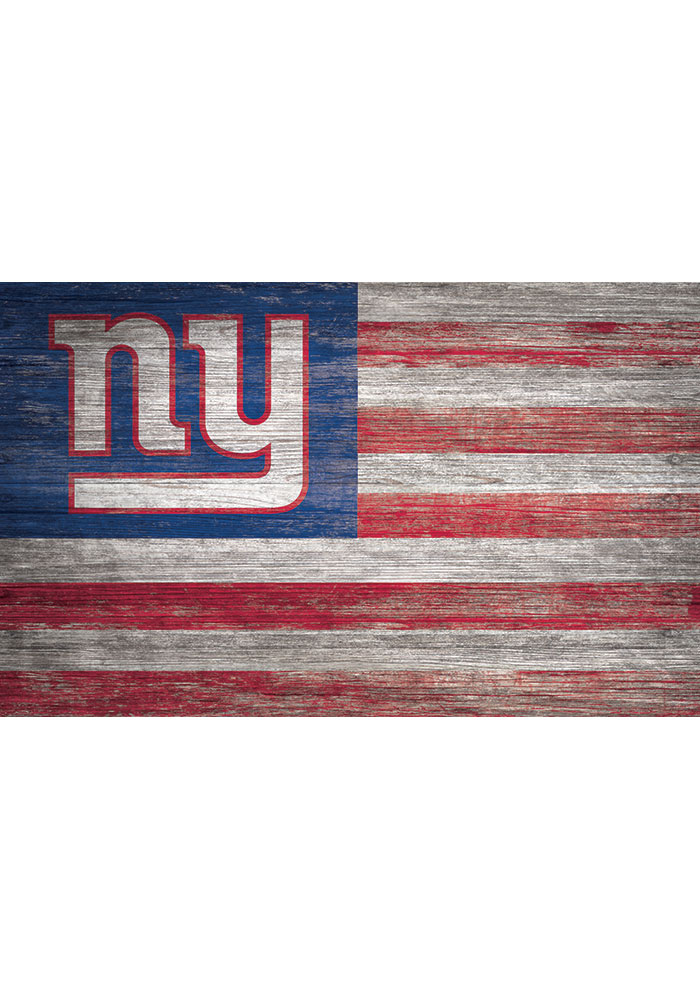 New York Giants Distressed Flag 11x19 Sign - Image 1