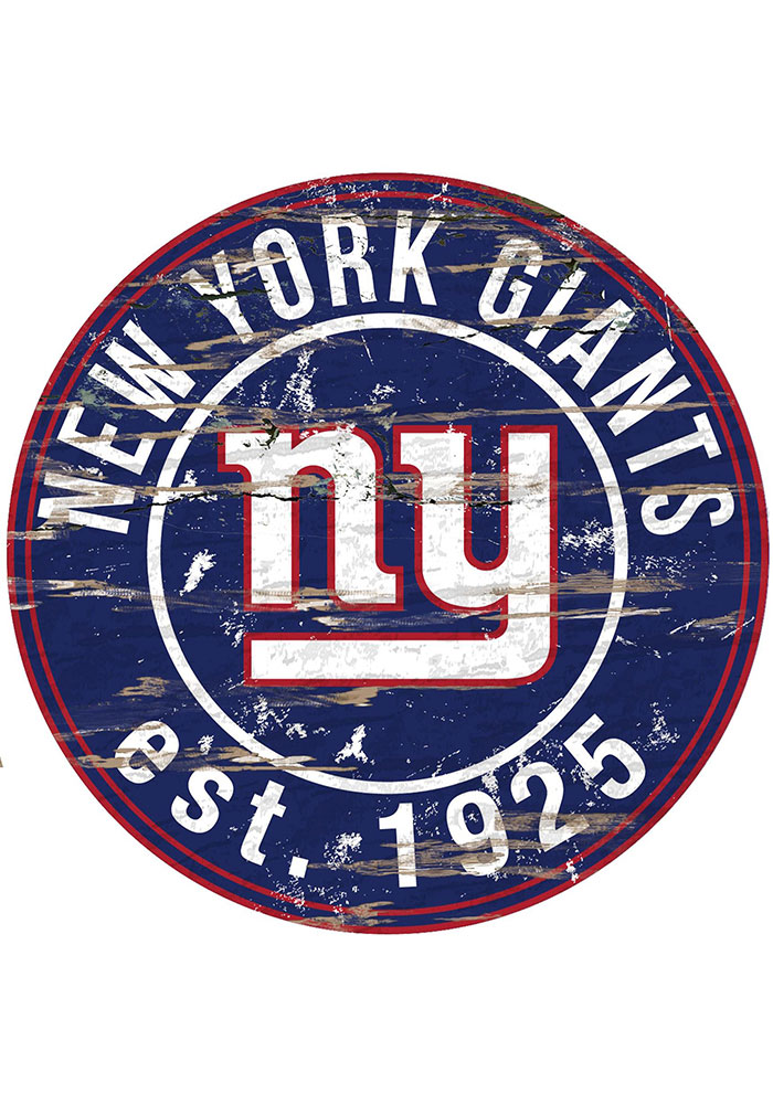 New York Giants Established Date Circle 24 Inch Sign - Image 1