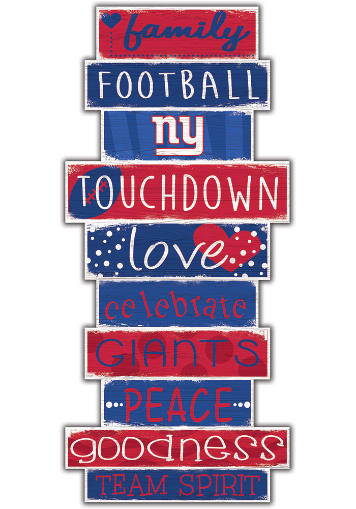 New York Giants Celebrations Stack 24 Inch Sign - Image 1