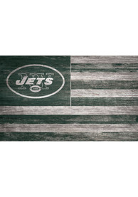 New York Jets Distressed Flag 11x19 Sign