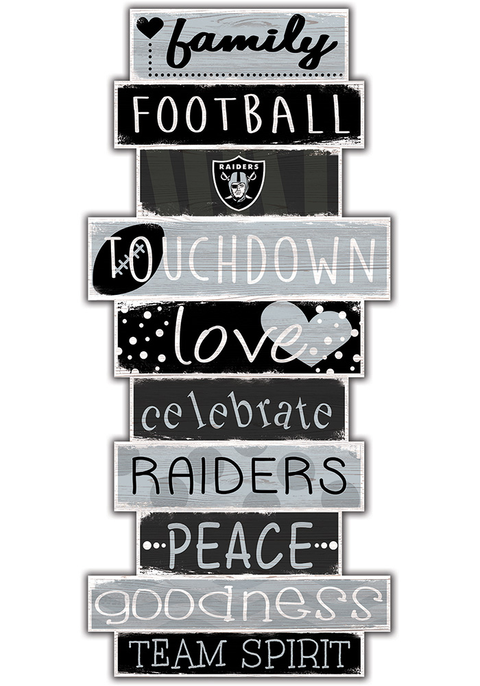 Oakland Raiders Celebrations Stack 24 Inch Sign - Image 1