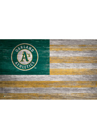 Oakland Athletics Distressed Flag 11x19 Sign
