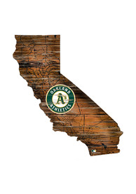 Oakland Athletics Distressed State 24 Inch Sign
