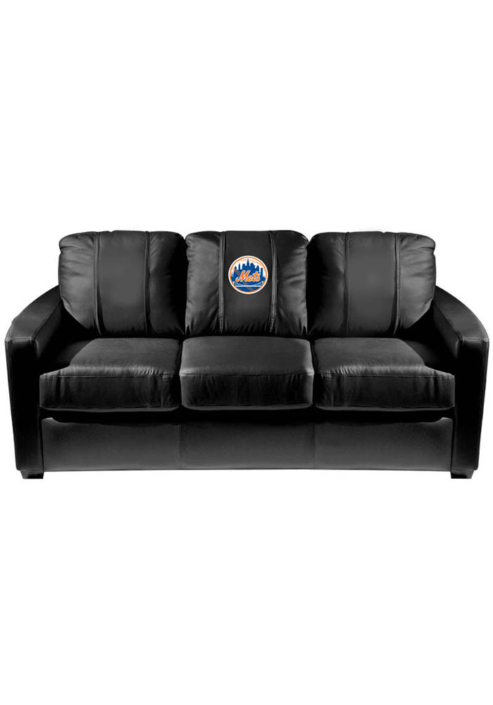 New York Mets Faux Leather Sofa - Image 1