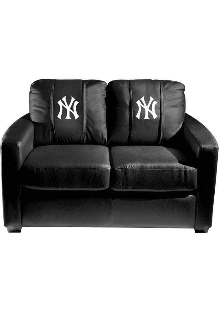 New York Yankees Faux Leather Love Seat - Image 1